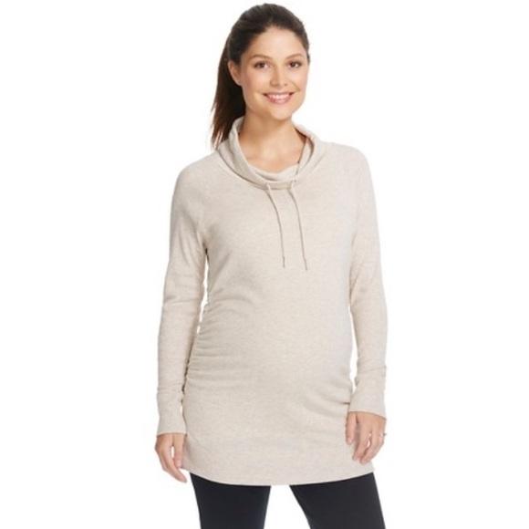 b589723c1367e Liz Lange for Target Tops | Liz Lange Maternity Cowl Neck Oatmeal ...